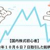 【国内株式初心者】2021年10月6日7日取引した銘柄の記録
