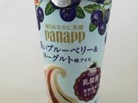 グリコ「パナップ」 濃いブルーベリー&ヨーグルト味アイスは、濃密さが特徴の美味しいパナップである。