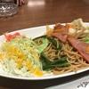 【デルヴォ】焼きスパゲティー(醤油)。和風パスタ?焼きそば?