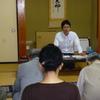 18日、笹木野後援会が介護保険の学習会。板橋さんとともに報告。
