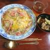 旬のタケノコで蟹玉チャーハンとアサリのすまし汁♪