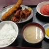 西川口の「あおき食堂」でさんまフライと唐揚げ定食を食べました★
