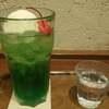 上島珈琲店のメロンクリームソーダ
