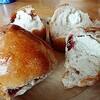 山のパン屋さん風~レーズンくるみクリームチーズパン~長っ!