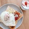 朝ご飯:やっぱりおいしいジブリ風ベーコンたまごチーズトースト