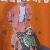 ~売り切れ御礼~ レア度高! ベルリン都市清掃公社(BSR) Tシャツ ドイツ語のシャレプリント オレンジ色 サイズ表示L(日本サイズL~XL相当)企業物古着