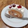 ラズベリーのロールのケーキ