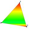 グラデーション三角形