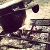 焚き火のロストル