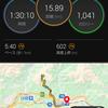 大野山峠走からの2ビートクロール練