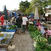 【バンビエン】北の市場の朝市で見たことがない食材を調査する