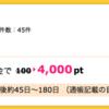 【ハピタス】SBI証券 新規口座開設+入金で4,000pt(4,000円)! 取引不要♪