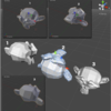 Blender→Unity Object import の向き
