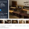 【無料化アセット】現代の一般的な机、ワゴン、椅子の3Dモデルです。引き出しの開閉が可能!木目調の美しいPBRマテリアルによる21種類の家具素材集「PBR Game-Ready Desks Pack」