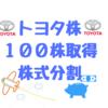 トヨタ自動車株を長期保有目的で100株取得 (トヨタ30年ぶり株式分割)