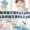 酸解離定数KaとpKa・塩基解離定数KbとpKb