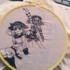 5日目 ふんばルビィでルビィちゃん-2【100均ダイソーの刺繍糸で近未来ハッピーエンド/CYaRon!の刺繍をしてみる!】