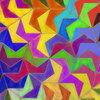 タイル張り『等辺凹5角形(同心円状)』