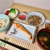 すき家の牛丼で牛鮭納豆定食  @家ごはん