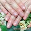ナチュラルできれいな指先に♡ほんのり色づくパールピンクグラデーション☆ジェル
