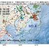 2017年08月22日 03時36分 千葉県北西部でM3.4の地震