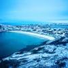 サウナのあとは、北極海にダイブ