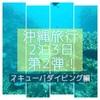 【ダイビング編】沖縄レンタカー無し旅行 2泊3日レポート!②