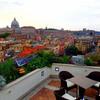 ローマ・バチカンを一望できるルーフトップバー