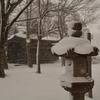 雪の亀田八幡宮…
