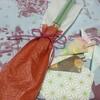 和紙を使ってはし袋などを、
