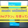 【Amazon music unlimited】Echoプランに申し込んでみた!【月額380円】