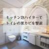 キッチン泡ハイターでトイレの黒カビを撃退