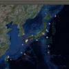 2017-03-31 地震の予測マップ (東進・西進を識別 過去の測定マップ)