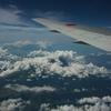 雲をまとった富士山