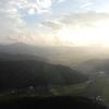 夕暮れのヘリコプターフライトの旅(富山ー京都)