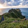 強風の神威岬