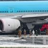 【速報】羽田空港で大韓航空機のエンジンから出火