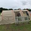 2児連れキャンプは大豪雨