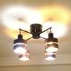 おしゃれすぎる電灯!4灯スポットシーリングライトCLARTE+クロスタイプを紹介するよ!