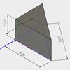 スケッチ寸法を表示させて、3Dビューで寸法を表示する