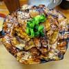 豚大学 @新橋 総重量1kgの豚丼(特大)に挑戦!!