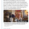 関係代名詞の非制限用法, if節のない仮定法, it is ~ for ... to do --, など(南アフリカ反アパルトヘイト闘争の闘士、デニス・ゴールドバーグ死去)