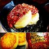 本日のおうちランチはキタアカリ(じゃがいも)で作った芋餅のバター焼き♪