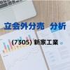 【立会外分売の分析】7305 新家工業