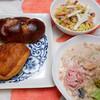 朝食:クリームシチュー、ポテサラ