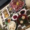 南アフリカで息子のお食い初めをした結果。ローストビーフもりもりのスペシャル膳ができたよ。