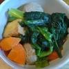 小松菜とにんじんと厚揚げとつみれの煮物