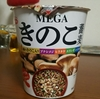 MEGAきのこ蕎麦(エースコック)を食べました。