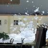 再びだ ! 嘉手納基地で大量の泡 - これまでも有害発がん性物質を含む消火剤が大量流出しても、日本側に一切報告なし