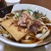 新幹線上りホームのグルめんできしめんを食べました。 @名古屋  グルめん新幹線上りホーム
